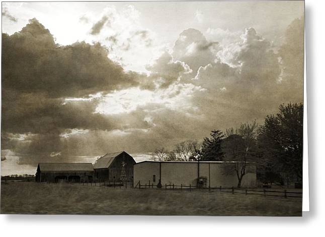 After The Storm Greeting Cards - After The Storm On The Farm Greeting Card by Dan Sproul