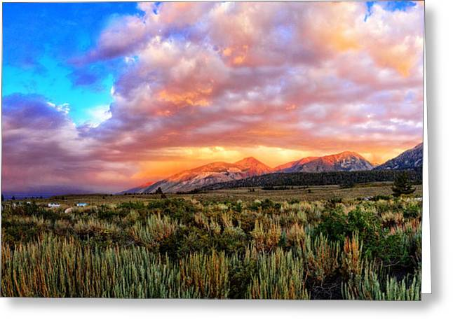 Recently Sold -  - Amazing Sunset Greeting Cards - After the Storm Panorama Greeting Card by Lynn Bauer