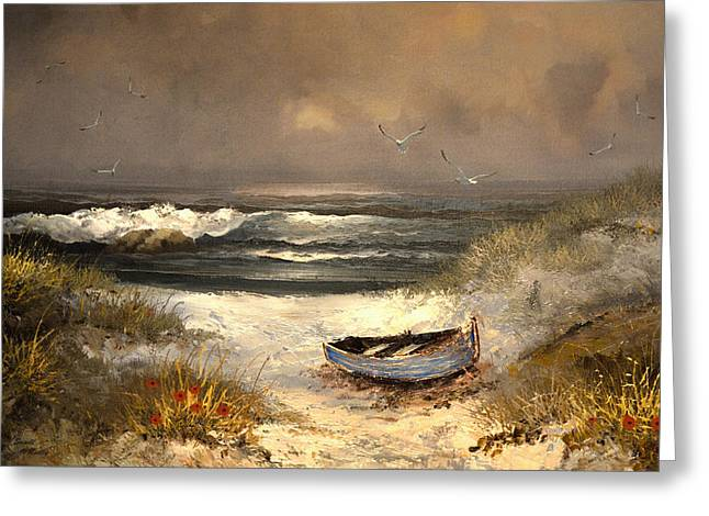 Sandi Oreilly Greeting Cards - After The Storm Passed Greeting Card by Sandi OReilly