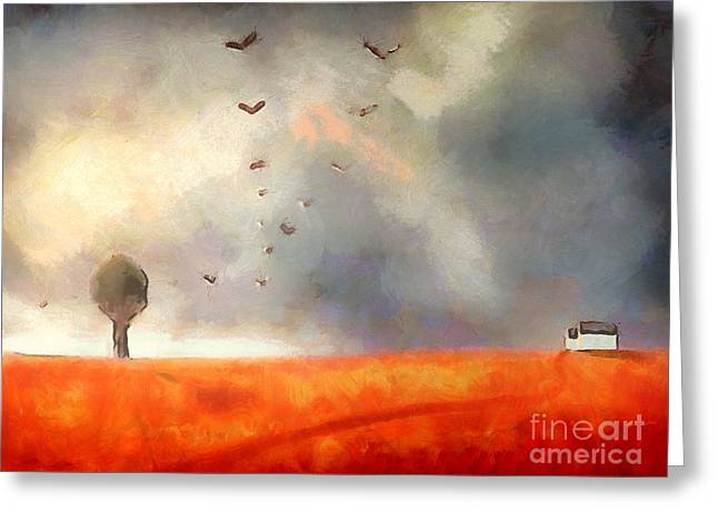 Storm Digital Art Greeting Cards - After the storm Greeting Card by Pixel Chimp