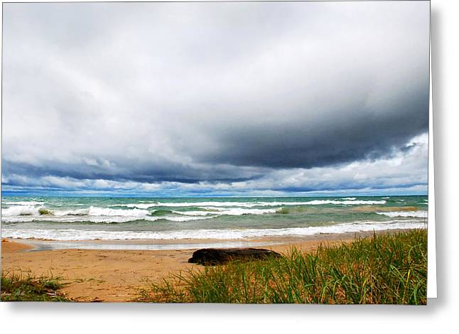 Beach Scenery Greeting Cards - After The Storm Waterscape Greeting Card by Christina Rollo
