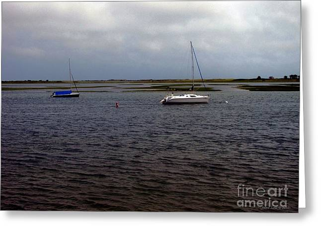 Storm Clouds Cape Cod Greeting Cards - After The Storm In Cape Cod Bay Greeting Card by Annie Zeno