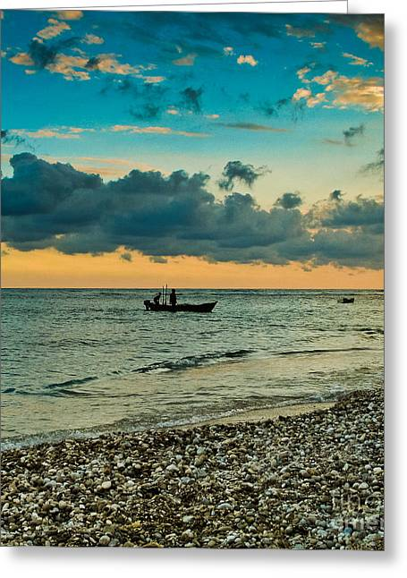 Recently Sold -  - Amazing Sunset Greeting Cards - After The Sun Greeting Card by Anatoli F Pena Castillo
