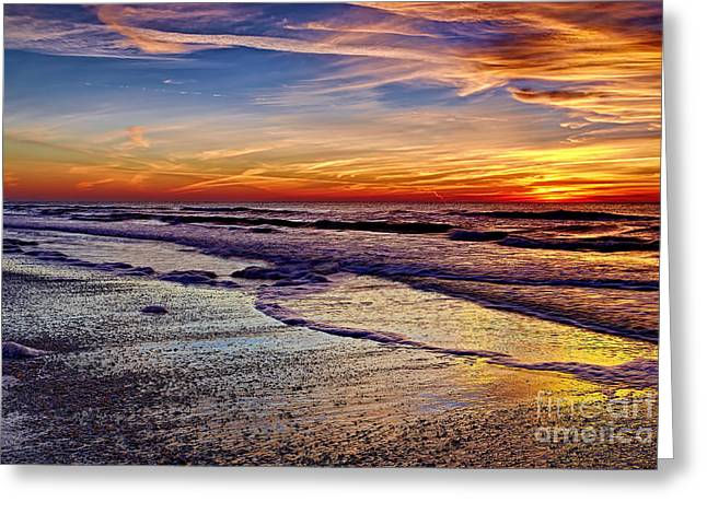 Sunset Posters Pyrography Greeting Cards - After the Sunset 2 Greeting Card by Eyzen M Kim