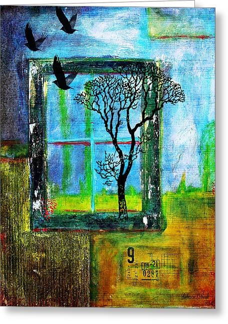 After They Left Greeting Card by Bellesouth Studio