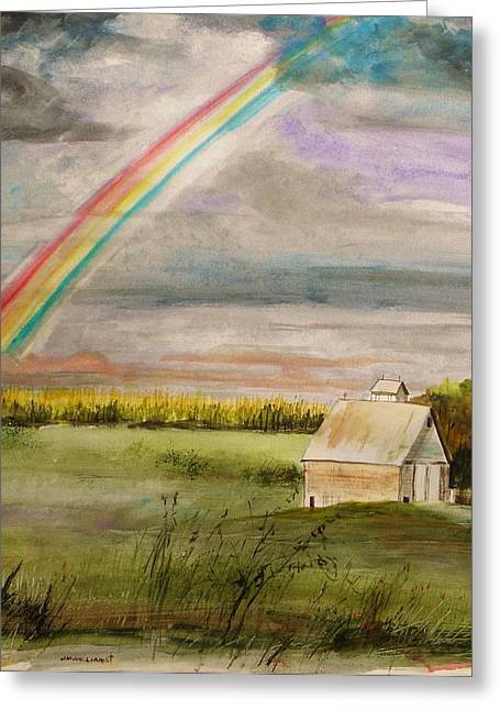 Summer Storm Drawings Greeting Cards - After Warm Rain Greeting Card by John  Williams