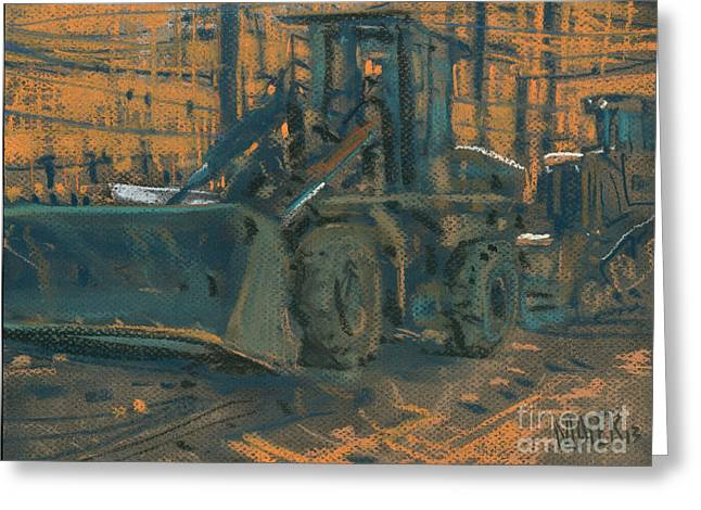 Bulldozer Greeting Cards - Bull Dozer Greeting Card by Donald Maier