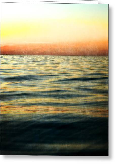 Afterglow Greeting Card by Michelle Calkins