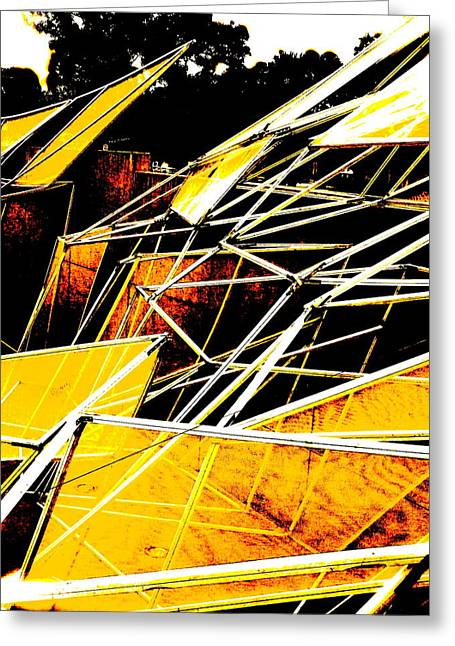 Art Product Mixed Media Greeting Cards - Aftermath Greeting Card by Debra  Barrington