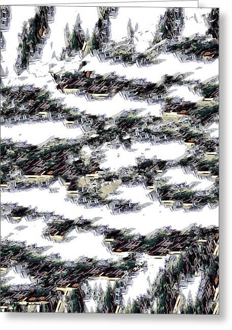 Algorithmic Greeting Cards - Aftermath Greeting Card by John Muellerleile