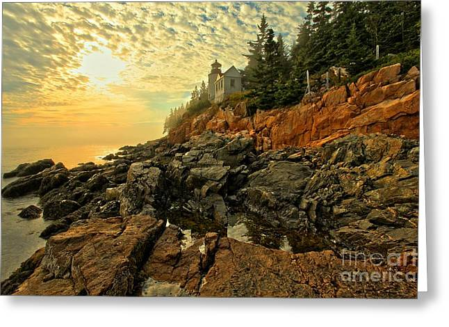 Bass Harbor Lighthouse Greeting Cards - Afternoon At Bass Harbor Greeting Card by Adam Jewell