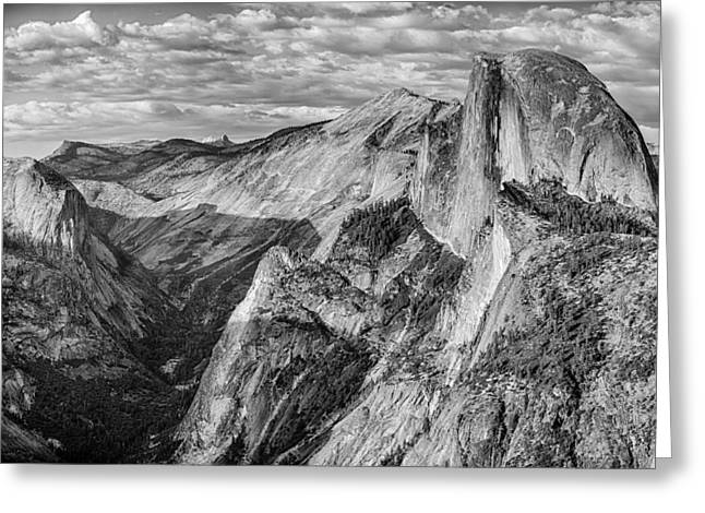 Afternoon At Half Dome Greeting Card by Harry H Hicklin
