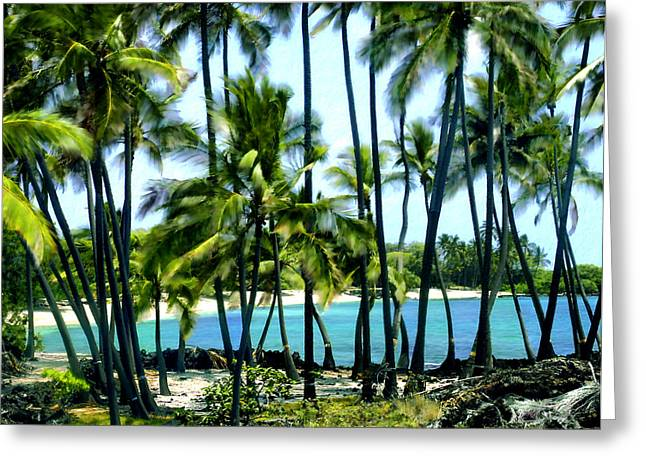 Best Seller Greeting Cards - Afternoon at Kakaha Kai Greeting Card by Kurt Van Wagner