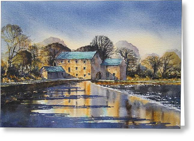 Old Mill Scenes Paintings Greeting Cards - Afternoon At Mullins Mill Kilkenny Greeting Card by Roland Byrne