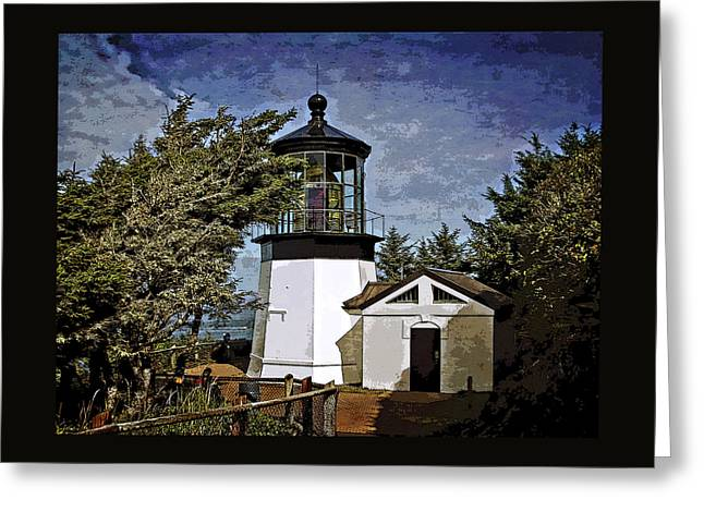 Lighthouse Pictures Greeting Cards - Afternoon At The Cape Meares Lighthouse  Greeting Card by Thom Zehrfeld