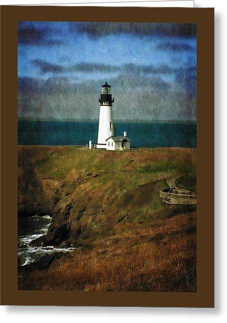 Lighthouse Pictures Greeting Cards - Afternoon At The Yaquina Head Lighthouse Greeting Card by Thom Zehrfeld