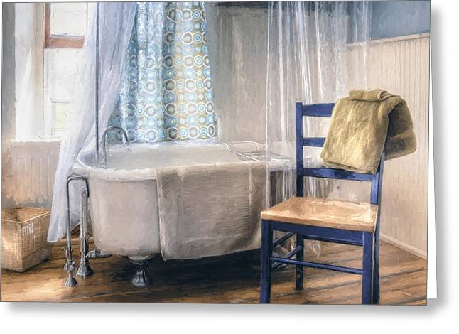Interior Still Life Greeting Cards - Afternoon Bath Greeting Card by Scott Norris