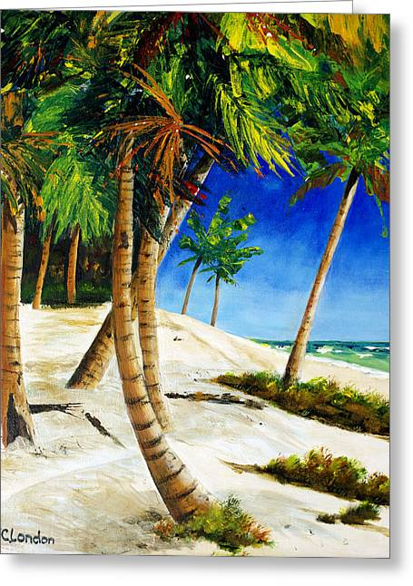 Sand Dunes Paintings Greeting Cards - Afternoon Beach Walk Greeting Card by Phyllis London