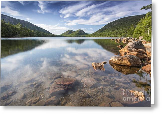 Jordan Pond Greeting Cards - Afternoon by the Pond Greeting Card by Marco Crupi