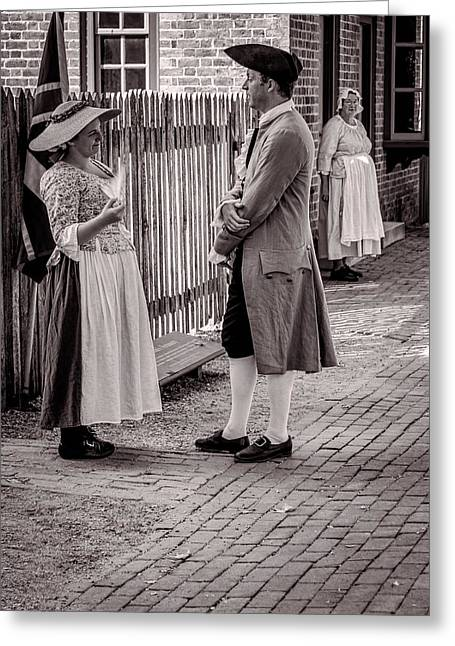 Confederate Flag Greeting Cards - Afternoon Conversation Greeting Card by Brenda Hackett