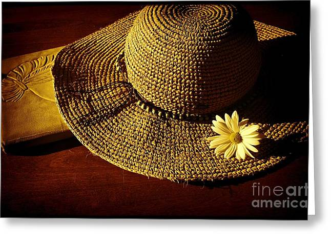 Wide Brim Hat Greeting Cards - Afternoon Delight Greeting Card by Pamela Blizzard
