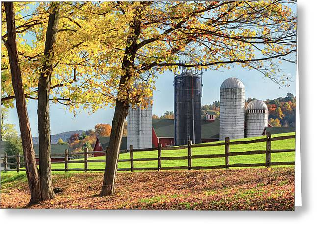 Autumn In The Country Greeting Cards - Afternoon Delight Square Greeting Card by Bill  Wakeley