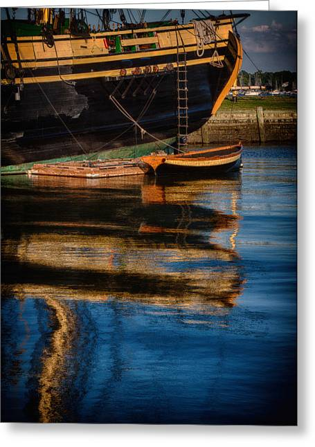 Shed Digital Art Greeting Cards - Afternoon Friendship  reflection Greeting Card by Jeff Folger