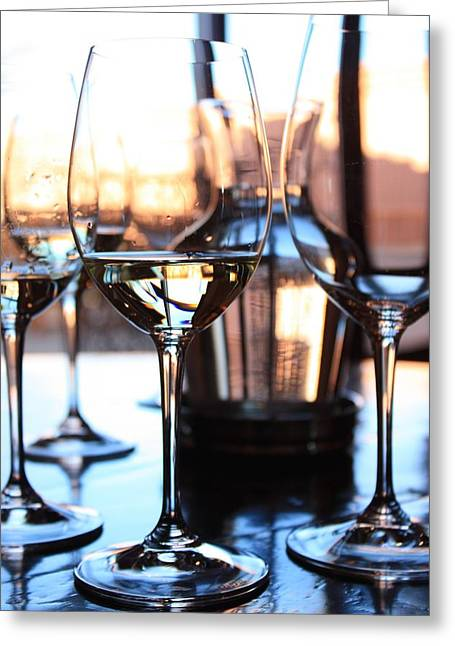 Wine Reflection Art Photographs Greeting Cards - Afternoon Glow 10 Greeting Card by Penelope Moore
