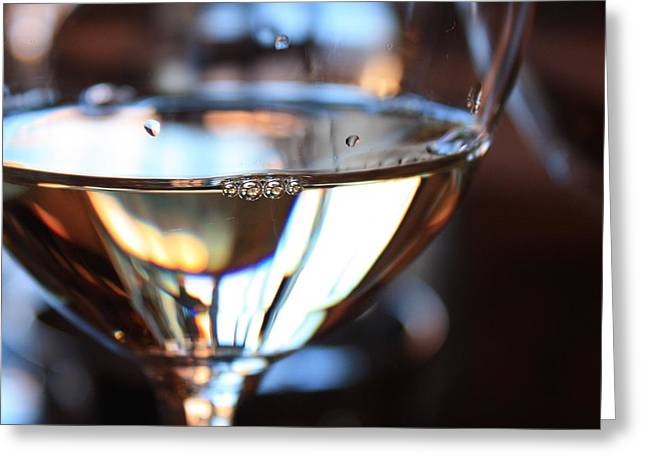 Wine Reflection Art Photographs Greeting Cards - Afternoon Glow 2 Greeting Card by Penelope Moore
