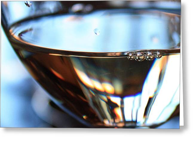 Wine Reflection Art Photographs Greeting Cards - Afternoon Glow 3 Greeting Card by Penelope Moore