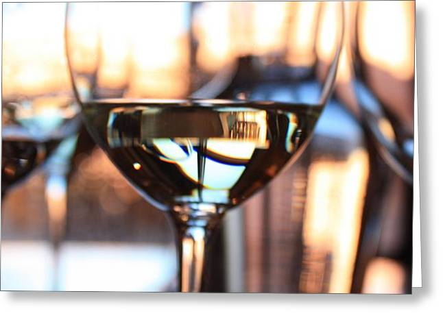 Wine Reflection Art Photographs Greeting Cards - Afternoon Glow 7 Greeting Card by Penelope Moore