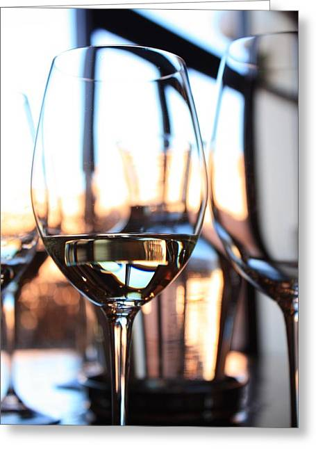 Wine Reflection Art Photographs Greeting Cards - Afternoon Glow 9 Greeting Card by Penelope Moore