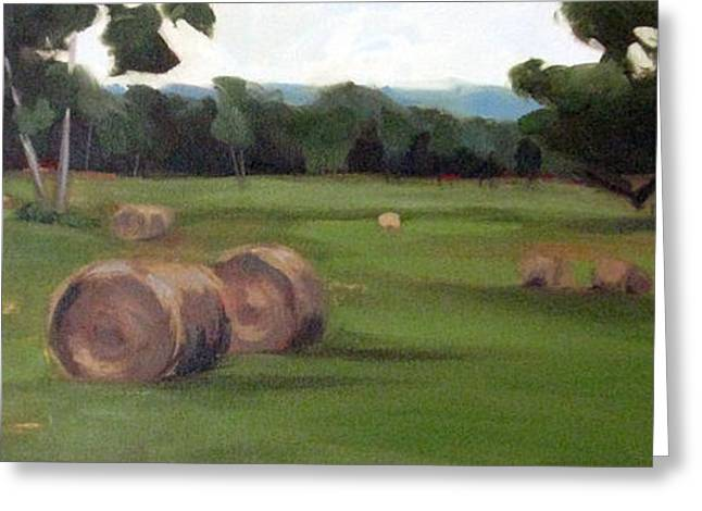 Tennessee Farm Greeting Cards - Afternoon Hay Greeting Card by Erin Rickelton