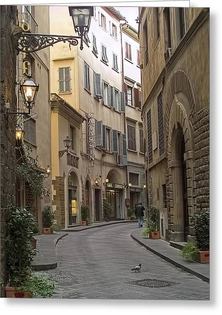 Italian Shopping Greeting Cards - Afternoon In Florence Greeting Card by Michael Flood