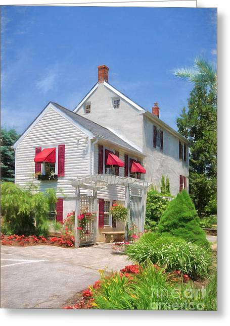 Summer Awnings Greeting Cards - Afternoon In June Greeting Card by Lois Bryan