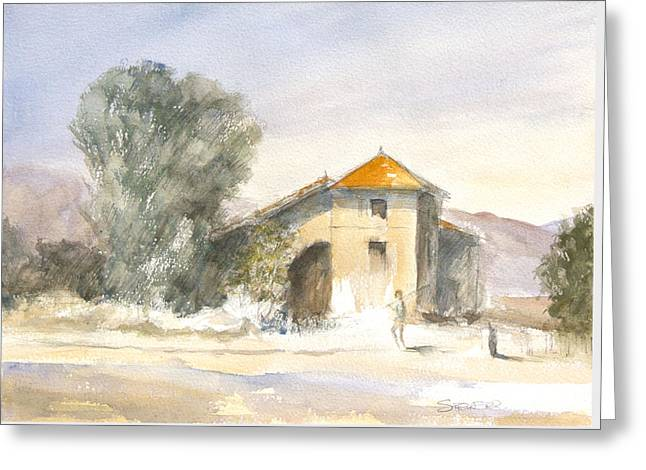 Renovated Drawings Greeting Cards - Afternoon Heat - Spain Greeting Card by Ann Stringer-Paget