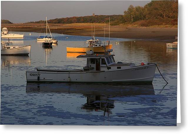Cohasset Greeting Cards - Afternoon Light Greeting Card by Nancy A Santry