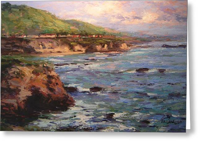 Afternoon Near Shell Beach Greeting Card by R W Goetting