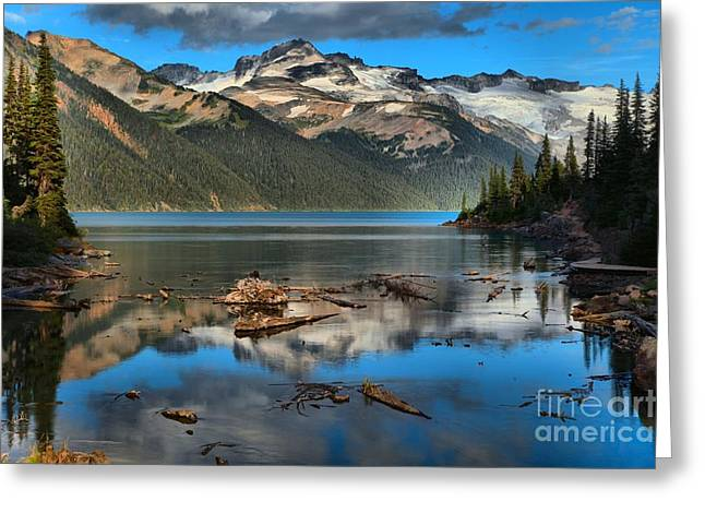 Afternoon Reflections In Garibaldi Greeting Card by Adam Jewell