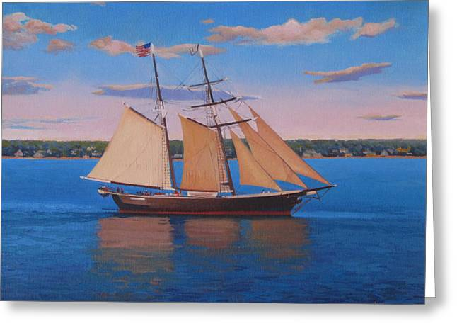 Afternoon Sail Greeting Card by Dianne Panarelli Miller