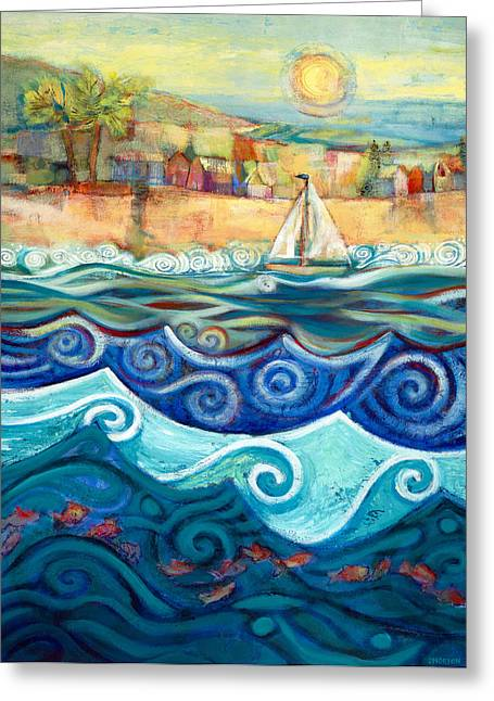 Home Greeting Cards - Afternoon Sail Greeting Card by Jen Norton