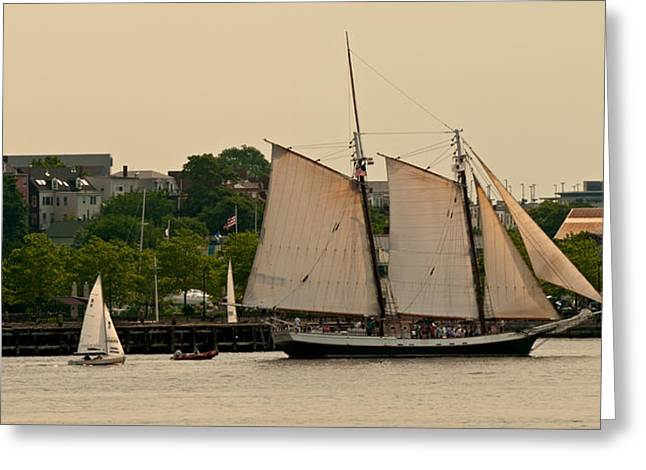 Boston Ma Greeting Cards - Afternoon Sail Greeting Card by Paul Mangold