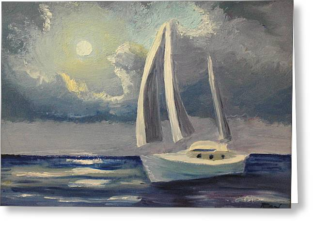 Avis Greeting Cards - Afternoon Sailing Greeting Card by Avis Fox