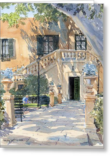 Afternoon Shade Greeting Card by Lucy Willis