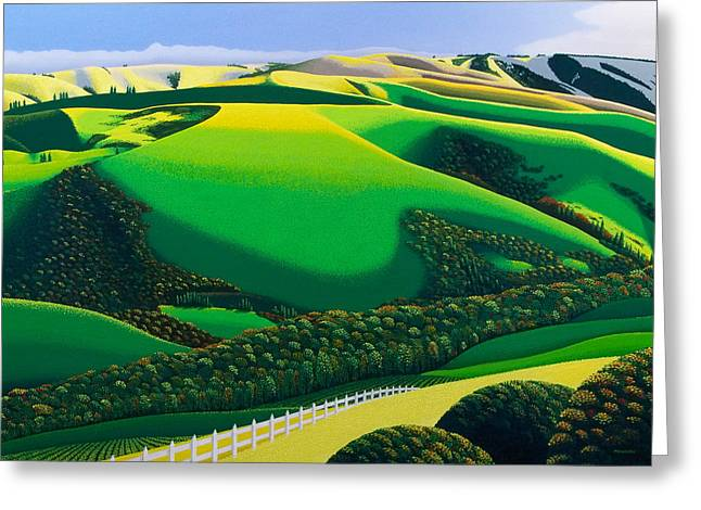 Rolling Hills Greeting Cards - Afternoon Shadows Greeting Card by Michael Wicksted