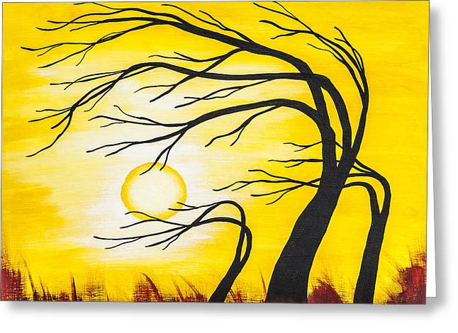 Afternoon Silhouette Greeting Card by Melissa Smith