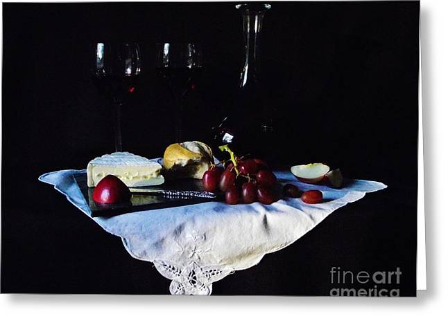 Cruet Greeting Cards - Afternoon Snack Greeting Card by Michelle Welles