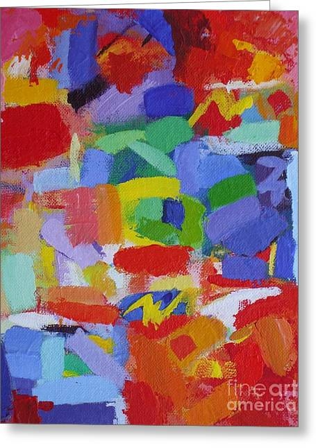 But Seek Ye First The Kingdom Of God - Matthew 6 33 - Abstract Expressionist Painting  Greeting Card by Philip Jones