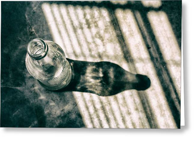 Glass Bottle Greeting Cards - Afternoon Soda Greeting Card by Karol  Livote