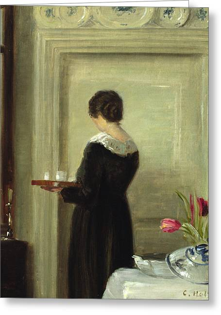 Bringing Greeting Cards - Afternoon Tea Greeting Card by Carl Holsoe